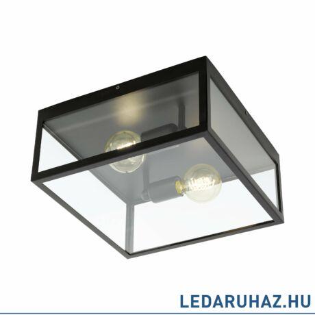 EGLO 49392 CHARTERHOUSE Vintage kettes mennyezeti lámpa, 30x30cm, fekete, acél/üveg, 2 db. E27 foglalattal + ajándék LED fényforrás