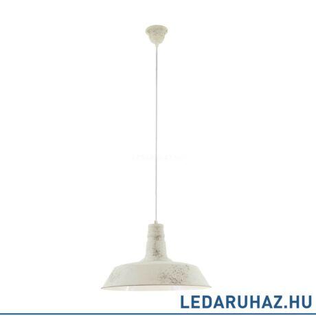 EGLO 49398 SOMERTON 1 Vintage függesztett lámpa 47 cm, antik fehér, E27 foglalattal