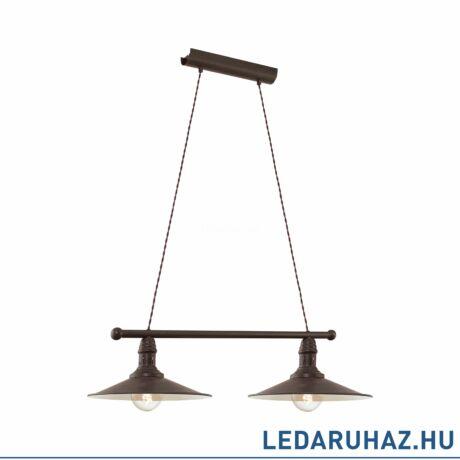EGLO 49457 STOCKBURY Vintage kettes függesztett lámpa, antik barna, 2 db. E27 foglalattal + ajándék LED fényforrás