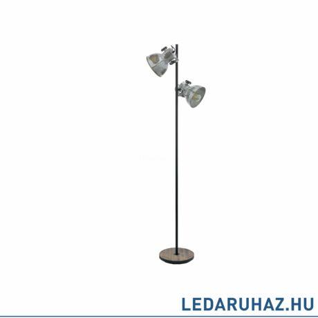 EGLO 49722 BARNSTAPLE Állólámpa, 2 db. E27 foglalattal, 158cm magas, cink/fekete, max. 2x40W + ajándék LED fényforrás