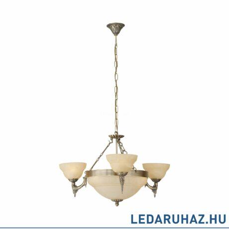 EGLO 85857 MARBELLA Bronz/pezsgőszínű alabástrom, üveg csillár, 74cm átmérő, 6 db E14 foglalat + ajándék LED fényforrás