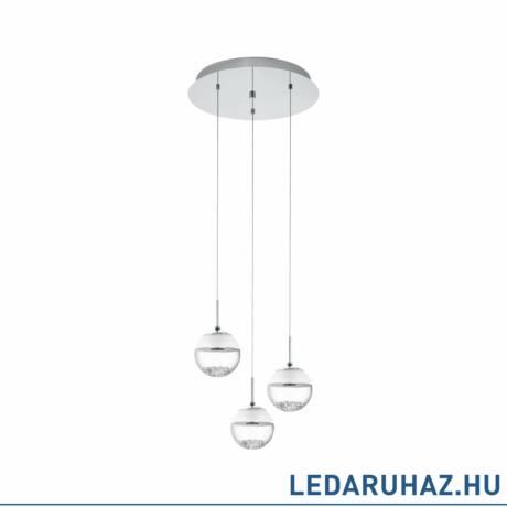 EGLO 93709 MONTEFIO 1 Króm kerek LED függeszték, 140cm átmérő, 3x5W