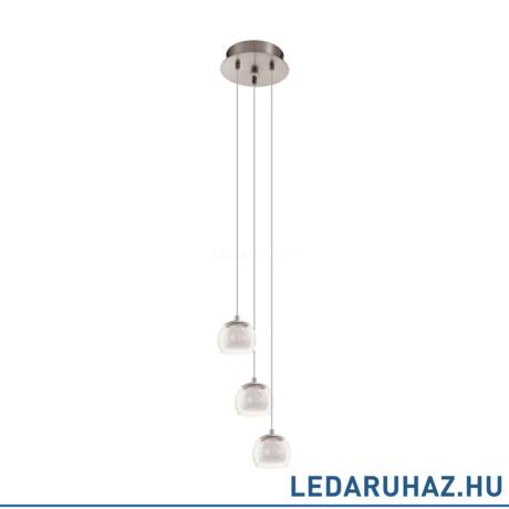 EGLO 94318 ASCOLESE Matt nikkel hármas LED függeszték 21 cm átmérő, 3x3W, 3000K melegfehér, 1020 lm