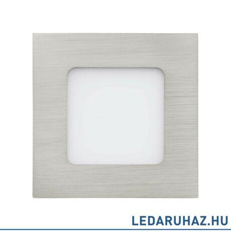 EGLO 94519 FUEVA 1 Süllyesztett 3W LED panel, négyzet, 8,5x8,5 cm, matt nikkel, 3000K melegfehér
