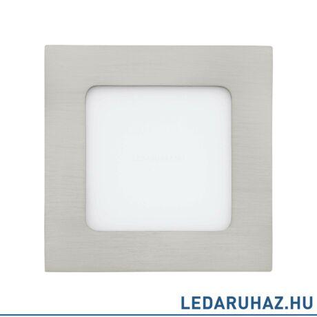 EGLO 94522 FUEVA 1 Süllyesztett 6W LED panel, négyzet, 12x12 cm, matt nikkel, 3000K melegfehér