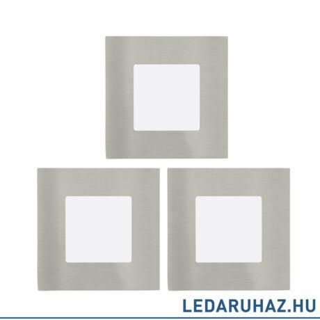 EGLO 94735 FUEVA 1 Süllyesztett 3 db. 3W LED panel készlet, négyzet, 8,5x8,5 cm, matt nikkel, 3000K melegfehér
