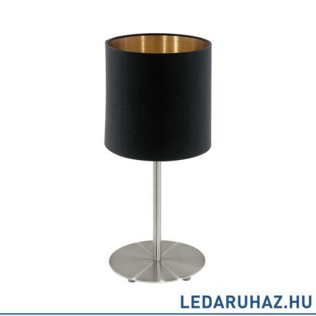 EGLO 94917 PASTERI Textil asztali lámpa, 18 cm, fekete/réz, E27 foglalattal