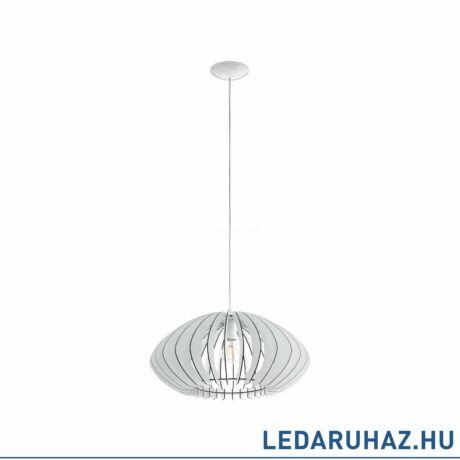 EGLO 95254 COSSANO 2 Fa függesztett lámpa, 50cm, fehér, E27 foglalattal