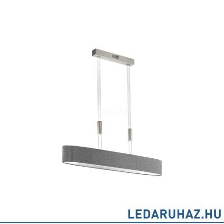 EGLO 95351 ROMAO Textil függesztett LED lámpa, 6x4W, 2760 lm, 3000K melegfehér, 105 cm, szürke, fényerőszabályozható