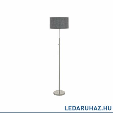 EGLO 95353 ROMAO Textil álló LED lámpa, 24W, 2210lm, 3000K melegfehér, 161,5cm, szürke, fényerőszabályozható