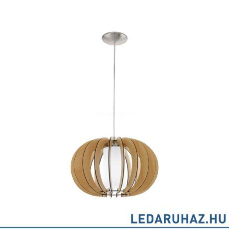 EGLO 95598 STELLATO 1 Fa függesztett lámpa, 40 cm, juhar, E27 foglalattal