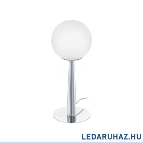 EGLO 95778 BUCCINO 1 Króm asztali lámpa opál üveg búrával, 12,5 cm átmérő, G9 foglalat