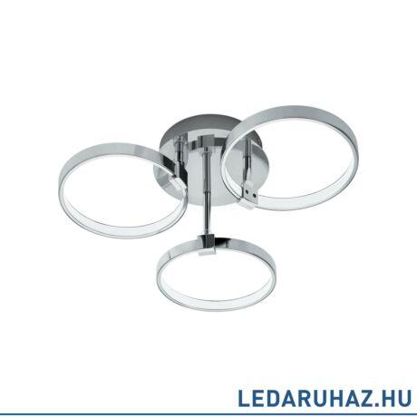 EGLO 96638 NEBREDA Mennyezeti LED lámpa, 44 cm, króm, 3x5,6W, 3000K melegfehér, 1680 lm