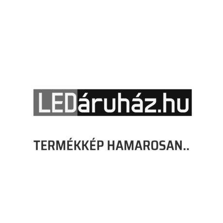 EGLO 96774 MURMILLO Króm függesztett lámpa 77 cm, átlátszó fekete üveg bura, 3 db. E27 foglalattal