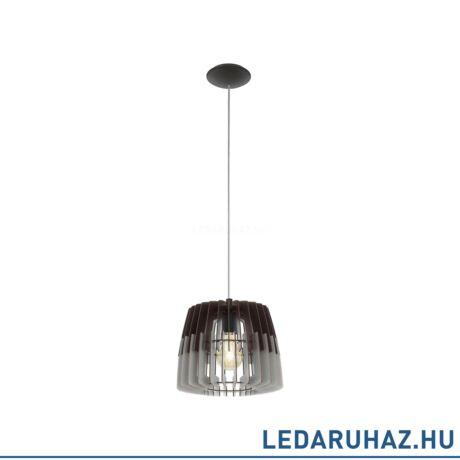 EGLO 96955 ARTANA Fa függesztett lámpa, 30 cm, fekete/szürke, E27 foglalattal