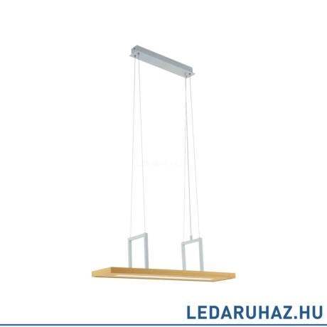 EGLO 96959 TONDELA Tölgy LED függeszték pakolófelülettel, 80 cm, 13,6W, 3000K melegfehér, 1080 lm, terhelhetőség: 5 kg