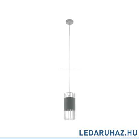 EGLO 97954 NORUMBEGA Textil függesztett lámpa, 14 cm átmérő, szürke/fehér, E27 foglalattal
