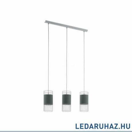 EGLO 97955 NORUMBEGA Textil függesztett lámpa, 74cm hosszú, szürke/fehér, 3 db. E27 foglalattal + ajándék LED fényforrás