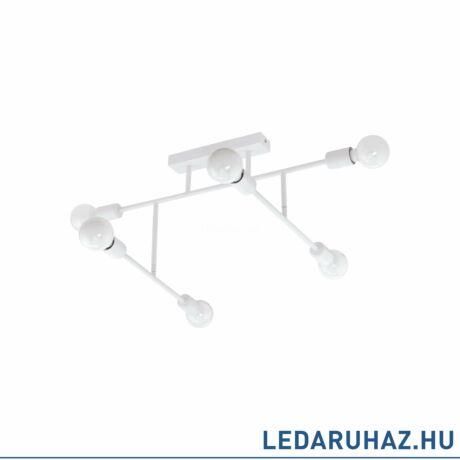 EGLO 98032 BELSIANA Fehér mennyezeti lámpa, 6 db. E27 foglalattal, 89x35cm, max. 6x40W + ajándék LED fényforrás