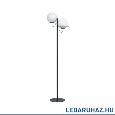 EGLO 98366 SABALETE Állólámpa, fekete, opál üveg 2XE27 foglalat 44,5x155cm + ajándék LED fényforrás