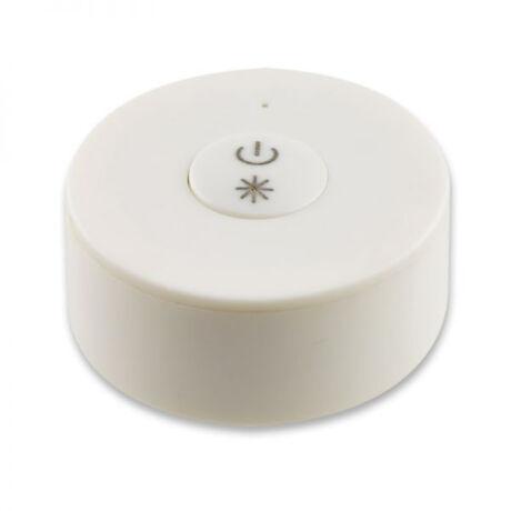 SysCon elemes 1 zónás vezeték nélküli LED fényerőszabályzó nyomógombbal, fehér