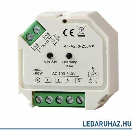SysCon vezeték nélküli falba süllyeszthető fényerőszabályzó, 230V