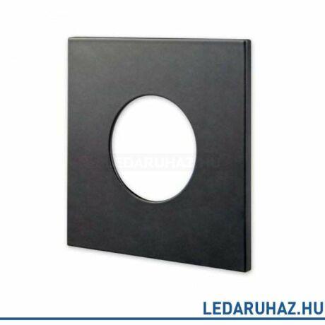 Matt fekete négyzet előlap vízálló IP65 LED spotlámpához