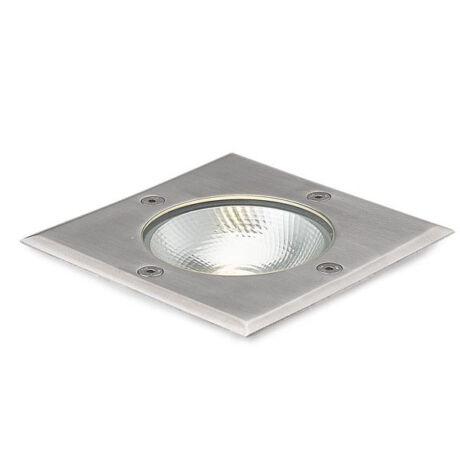 IP67 LED taposható talajba süllyesztett lámpa, négyzet, 3000K, 6W COB LED, 230V