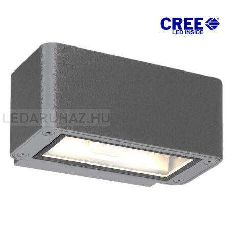 2 irányban világító LED fali lámpa antracit színben – 4×3W CREE melegfehér LED