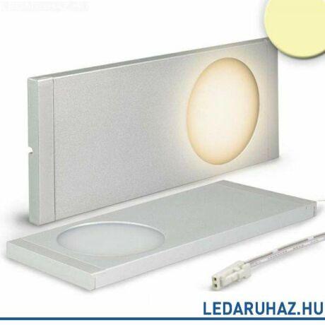 Bútorvílágító LED lámpa, szögletes, 6W, 300 lm, 2800K meleg fehér, 12V