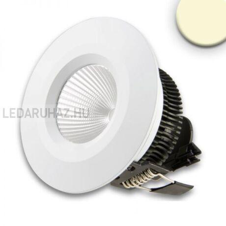 Süllyesztett dimmelhető LED spotlámpa IP44, 8W, melegfehér, COB, fehér ház