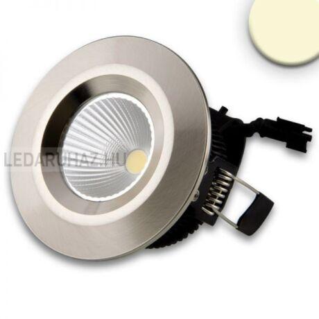 Süllyesztett dimmelhető LED spotlámpa IP44, 8W, melegfehér, COB, szálcsiszolt alumínium ház