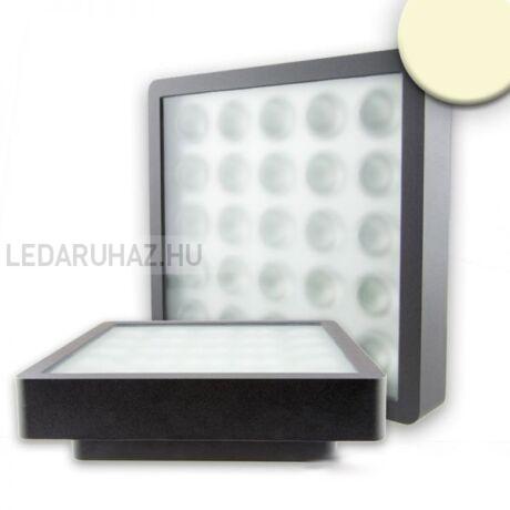Mennyezeti LED lámpa, négyzet, IP54, 22W, melegfehér, antracit ház