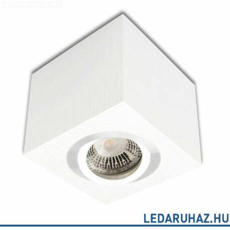Mennyezeti szpot lámpatest GU10/MR16 LED fényforráshoz, szögletes, fehér
