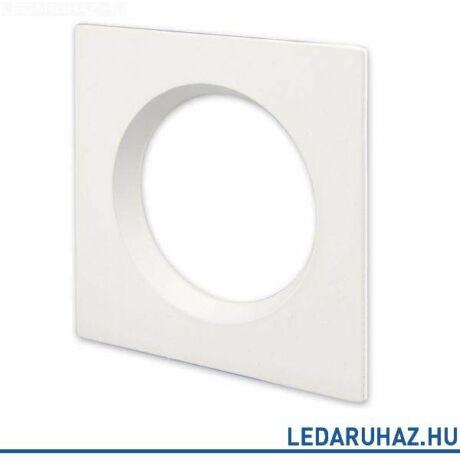 Fehér szögletes előlap DLSystem IP44 WhiteSwitch LED mélysugárzóhoz
