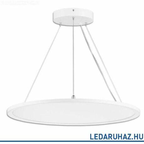 Függesztett LED lámpatest irodai használatra, kör, 4000 lm, 40W, 3000K meleg fehér, fehér