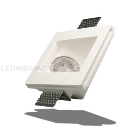 Mennyezeti gipsz lámpatest - aszimmetrikus, süllyesztett, 120×120 mm - MR16, GU10 LED fényforrásokhoz