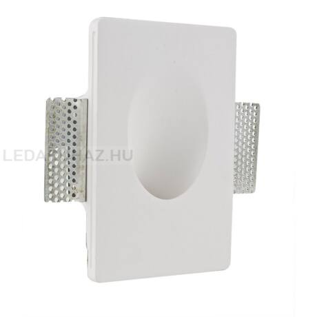 Fali gipsz süllyesztett festhető lábazati lámpatest – ovális megvilágítás, 120×180 mm – GU4/MR11 LED fényforrásokhoz