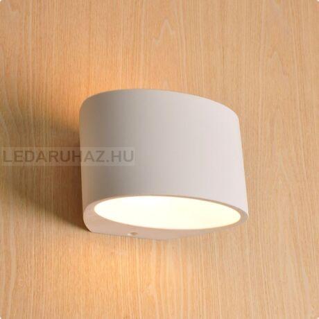 Fali gipsz lámpatest - ovális, 200x120x150 mm - G9 LED fényforráshoz