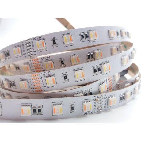 RGBCCT (RGB+WW+CW) SMD LED szalag 24V 5050, beltéri, 60 LED/m, 5 chip, 24W, 2 év garancia