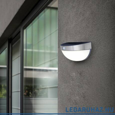 Lutec Bubble szolár kültéri fali szolár lámpa, 2,3W, 200 lm, 4000K természetes fehér, IP44, alumínium - 6908701001 - ST9087