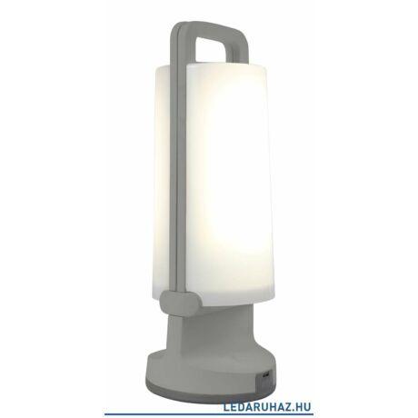 Lutec Dragonfly szolár hordozható asztali lámpa, 1,2W, 120 lm, 4000K természetes fehér, IP54, szürke - 6904101337 - P9041 si