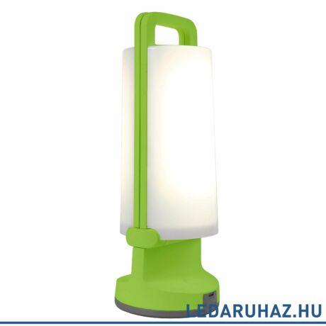 Lutec Dragonfly szolár hordozható asztali lámpa, 1,2W, 120 lm, 4000K természetes fehér, IP54, zöld - 6904101339 - P9041 grn
