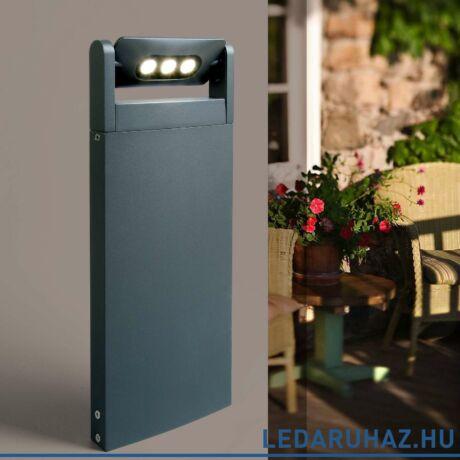 Lutec Mini LEDspot kültéri állólámpa, 9W, 605 lm, 4000K természetes fehér, IP65, antracit - 7214603118 - 6146S-1-526 gr