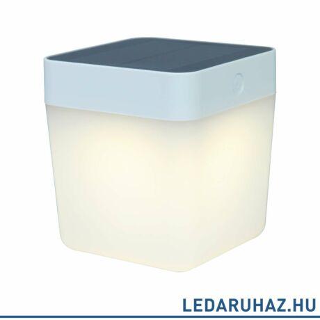 Lutec Table Cube szolár hordozható asztali lámpa, 1W, 100 lm, 3000K melegfehér, IP44, szürke - 6908001337 - P9080-3K si