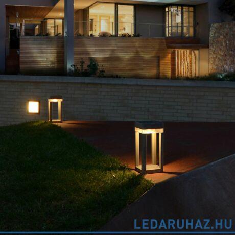 Lutec Table Cube szolár hordozható lámpa, 1W, 100 lm, 3000K melegfehér, IP44, szürke - 6908002337 - P9080-450 si