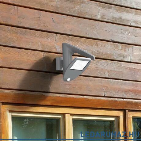 Lutec Zeta szolár kültéri fali lámpa, 2,4W, 200 lm, 4000K természetes fehér, IP44, mozgásérzékelővel, szürke - 6901101000 - P9011  si