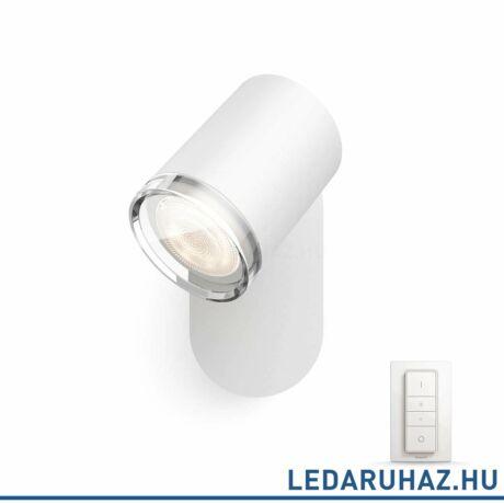 Philips Hue Adore LED lámpa, fehér, fürdőszobába, 5.5, 230V, IP44, 2200-6500K, +DimSwitch, 3435931P7