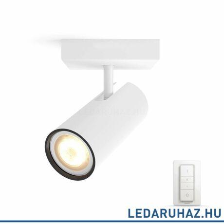 Philips Hue Buratto LED spotlámpa, fehér, változtatható színhőmérséklet 2200-6500K, 1x5.5W, 250 lm, 50461/31/P7