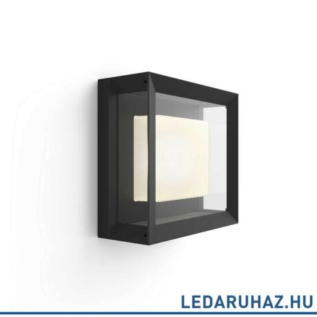 Philips Hue Econic kültéri LED lámpa, IP44, RGBW, 2000-6500K, 1150lm, 15W, fekete, White and Color Ambiance, 1743830P7